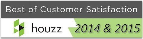 Houzz Best of Customer Satisfaction 2014 & 2015